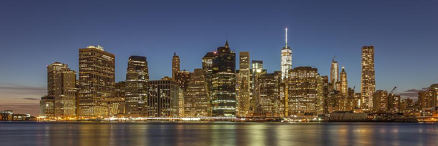 Architecture Photograph - New York Skyline Panorama - 2 by Christian Tuk