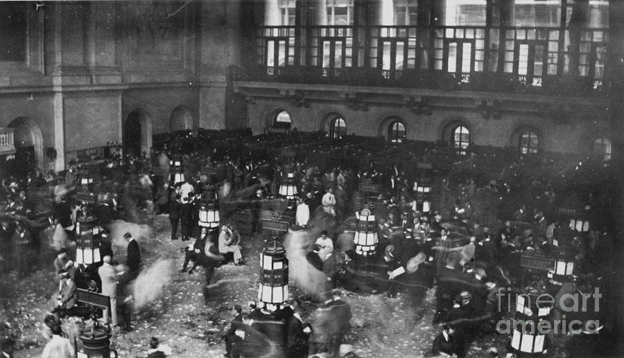 1907 Photograph - New York Stock Exchange by Granger