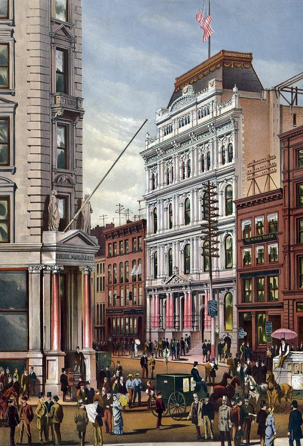 History Photograph - New York Stock Exchange In 1882 by Everett