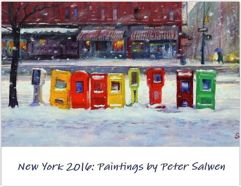 2016 Painting - New York Streetscapes 2016 by Peter Salwen