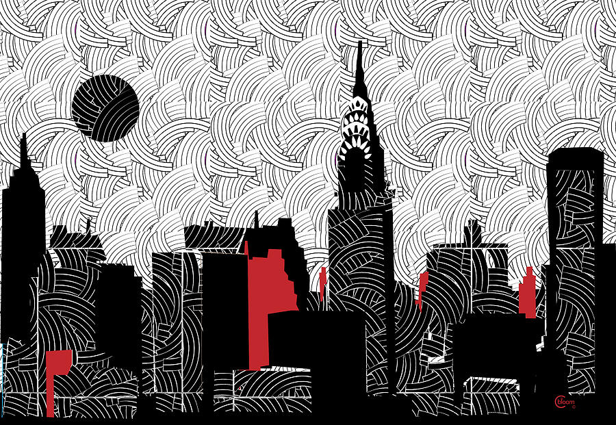 New York City Skyline Swing  by Cecely Bloom