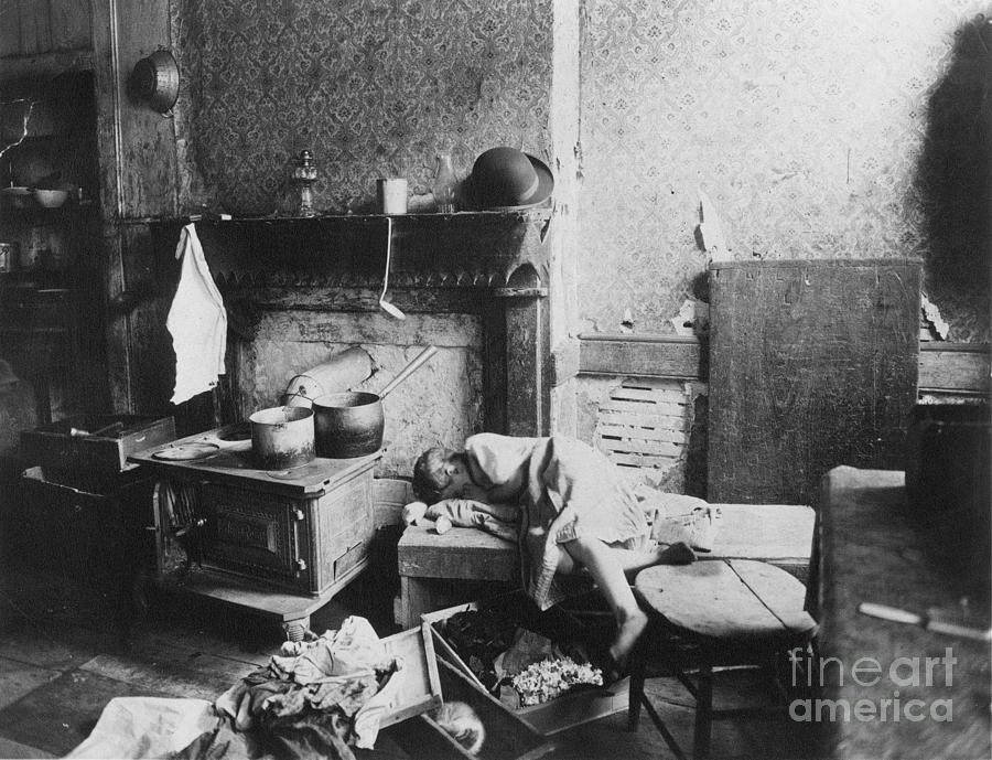 1896 Photograph - New York: Tenement Life by Granger