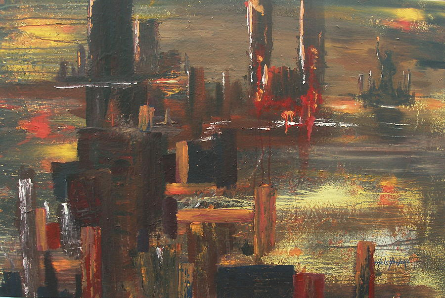 New York Tragedy Painting by Miroslaw  Chelchowski