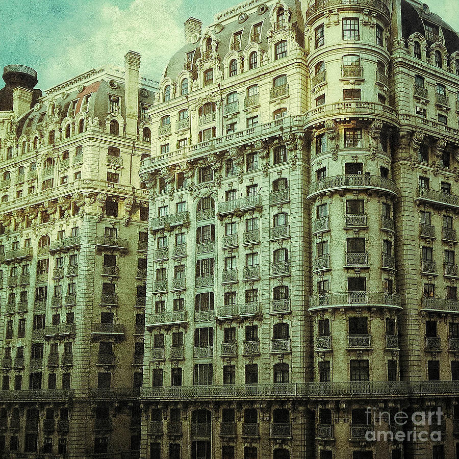 West New York Apartment: New York Upper West Side Apartment Building Digital Art By