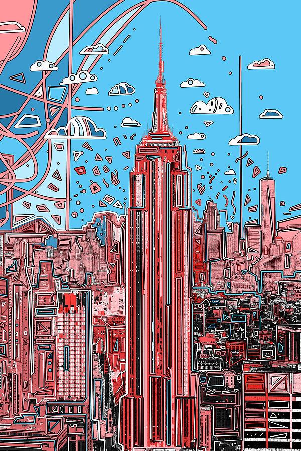 New York Digital Art - New York Urban Colors 2 by Bekim M