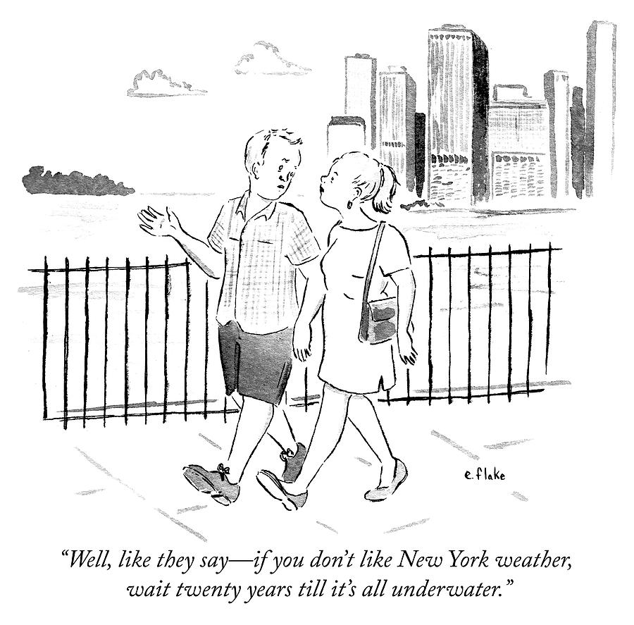New York Weather Drawing by Emily Flake