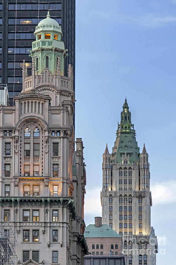 America Photograph - New York Woolworth Building  by Juergen Held