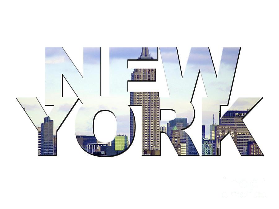 New York Word Art Photograph