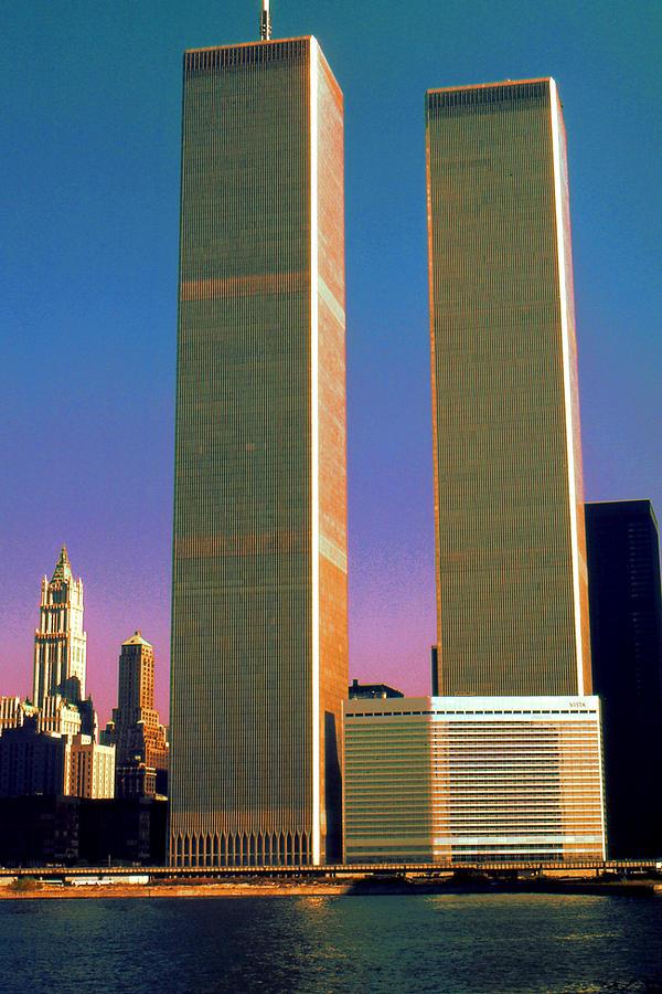 New York World Trade Center Before 911 - Pop Art 2001 by Peter Potter