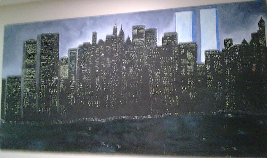 New York World Trade Never Forgotten Painting by Helen Vanterpool