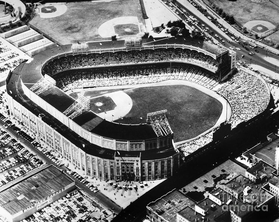 New york yankees photograph new york yankee stadium by granger