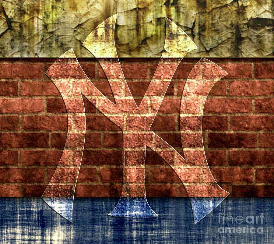 New York Yankees Brick 2 Digital Art by CAC Graphics 94090654335b