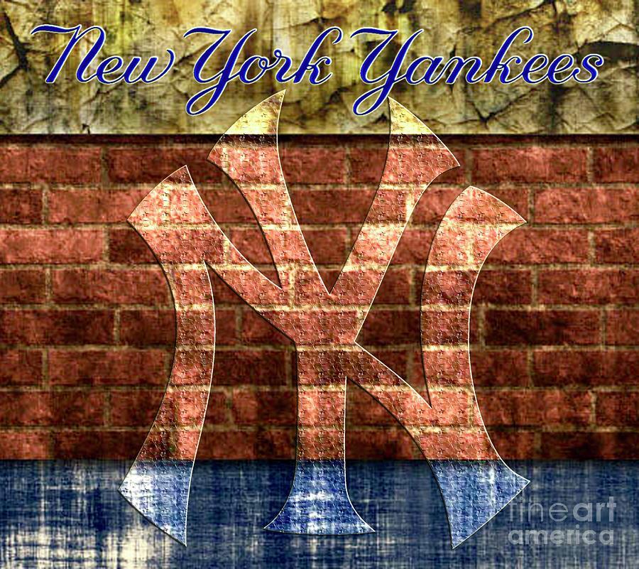 New York Yankees Brick Digital Art by CAC Graphics f51245bc8db4