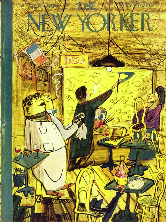 New Yorker April 1, 1950 Painting by Ludwig Bemelmans