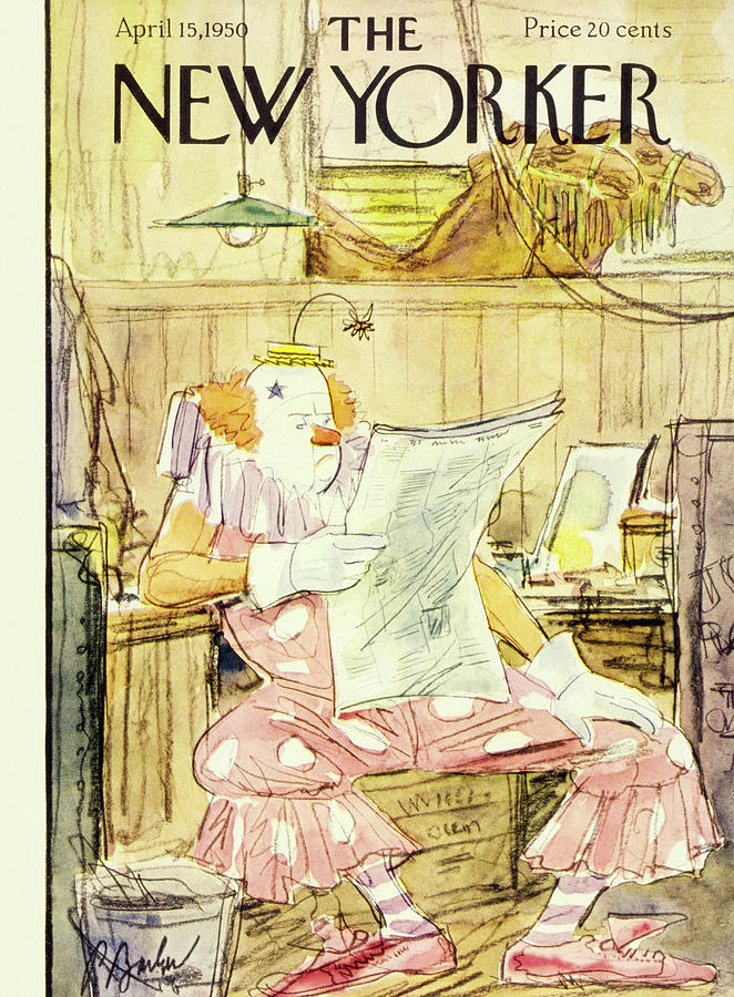 New  Yorker April 15 1950 Painting by Perry Barlow