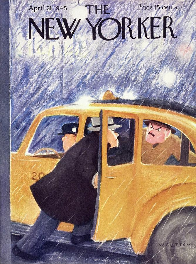 New Yorker April 21 1945 Painting by William Cotton