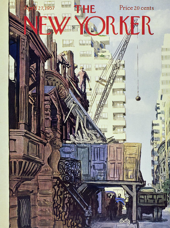 New Yorker April 27 1957 Painting by Arthur Getz