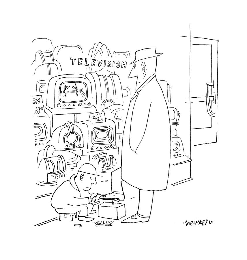 April 29th Drawing - New Yorker April 29th, 1950 by Saul Steinberg