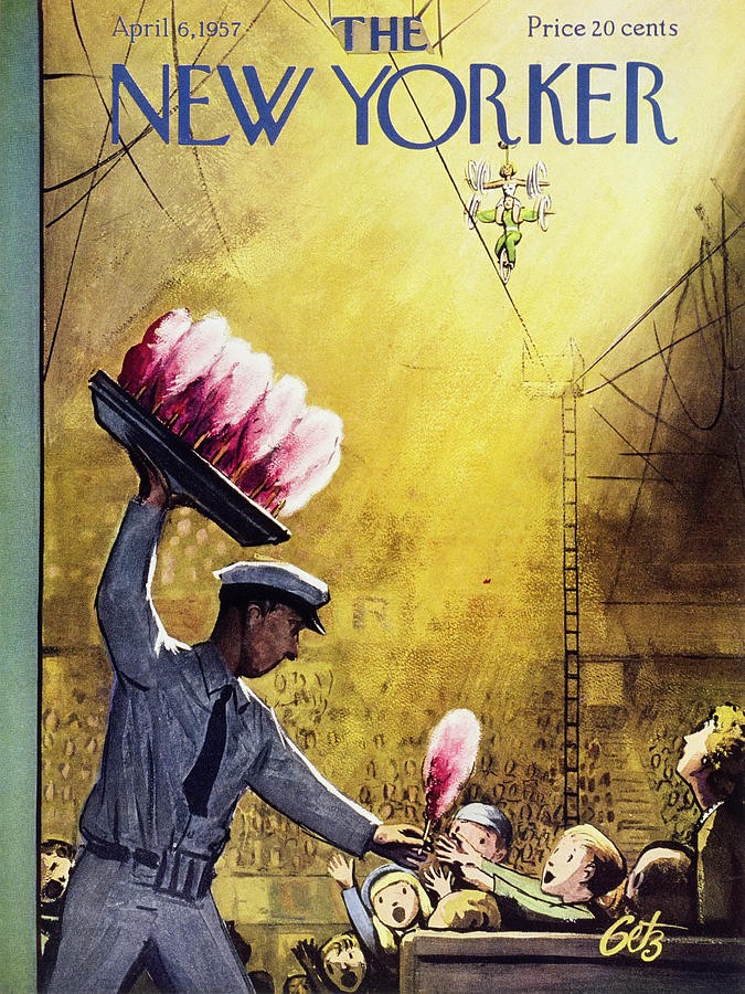 New Yorker April 6 1957 Painting by Arthur Getz