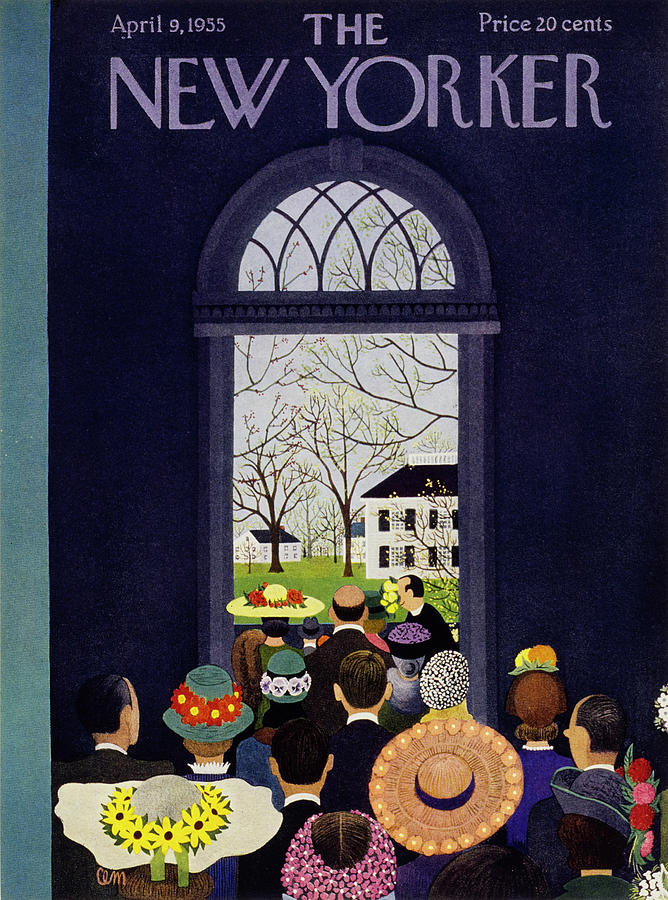 New Yorker April 9 1955 Painting by Charles E Martin