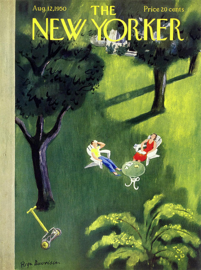New Yorker August 12 1950 Painting by Roger Duvoisin