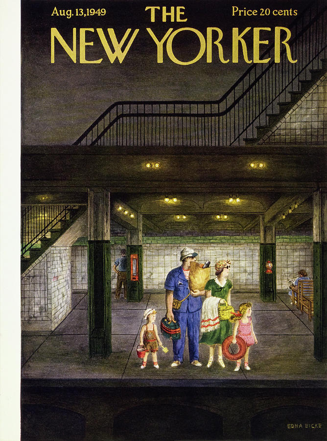 New Yorker August 13 1949 Painting by Edna Eicke
