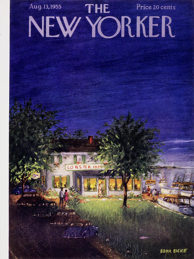 New Yorker August 13 1955 Painting by Edna Eicke