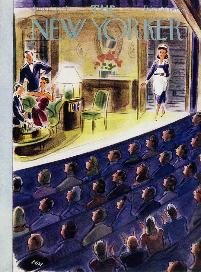 New Yorker August 14 1954 Painting by Leonard Dove