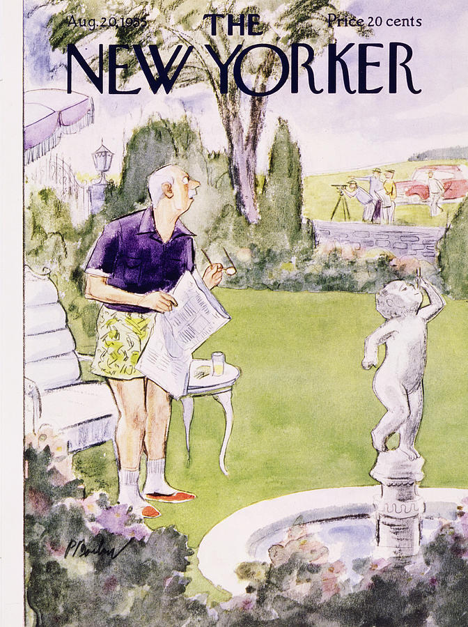 New Yorker August 20 1955 Painting by Perry Barlow