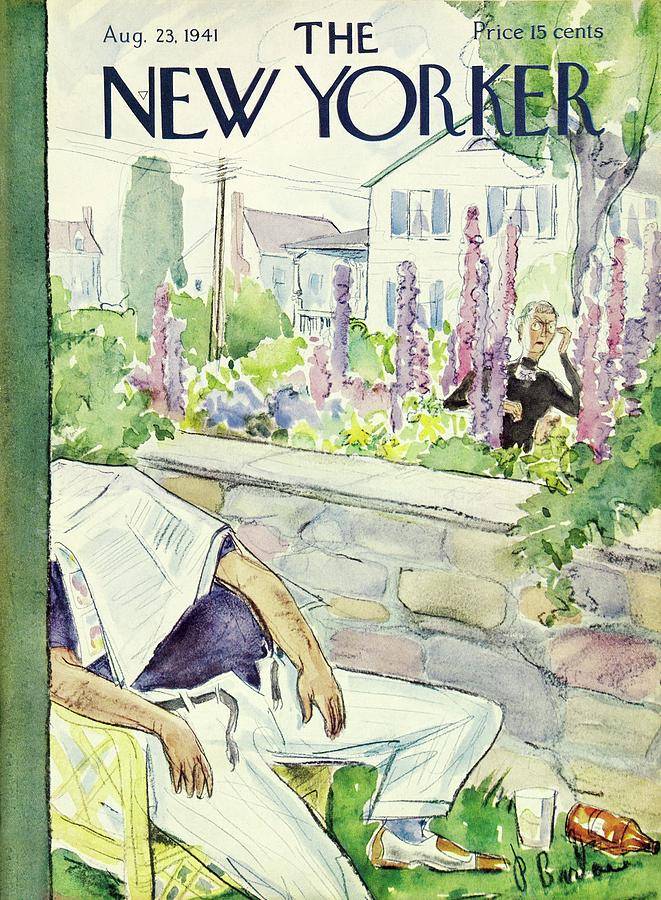 New Yorker August 23 1941 Painting by Perry Barlow