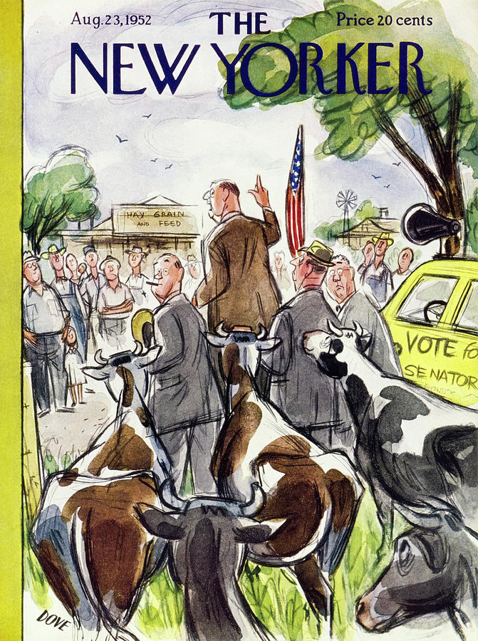 New Yorker August 23 1952 Painting by Leonard Dove