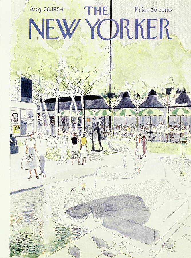 New Yorker August 28 1954 Painting by Garrett Price