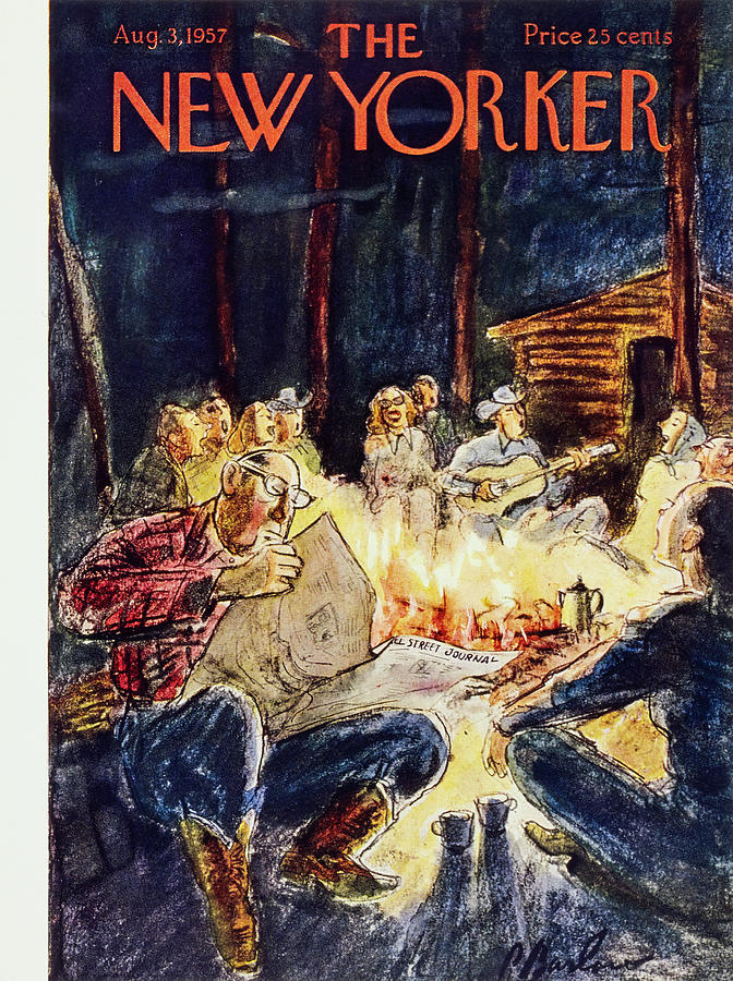 New Yorker August 3 1957 Painting by Perry Barlow