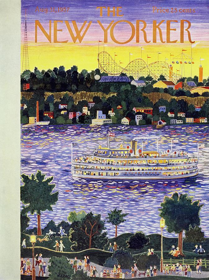New Yorker August 31 1957 Painting by Ilonka Karasz