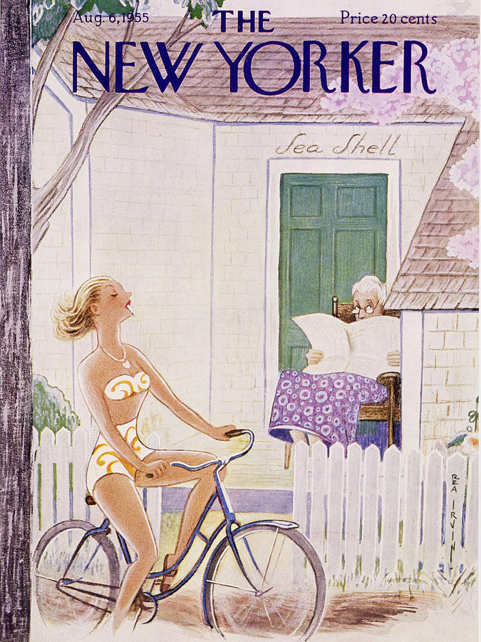 New Yorker August 6 1955 Painting by Rea Irvin