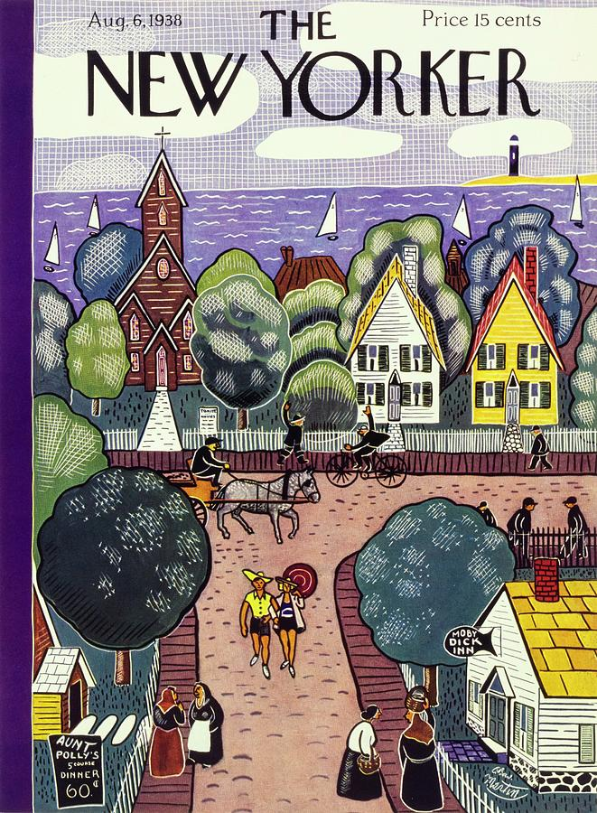 New Yorker August 6, 1938 Painting by Charles E Martin