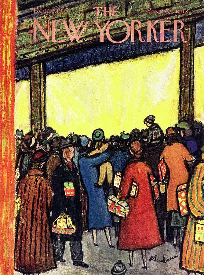 New Yorker December 12 1953 Painting by Abe Birnbaum