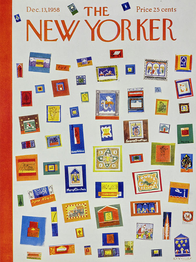 New Yorker December 13 1958 Painting by Anatole Kovarsky