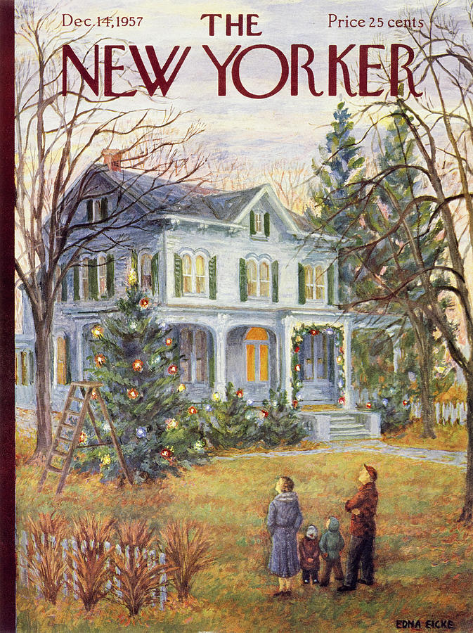 New Yorker December 14 1957 Painting by Edna Eicke