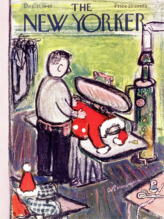 New Yorker December 17 1949 Painting by Abe Birnbaum