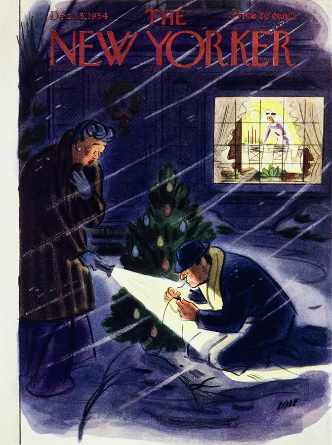 New Yorker December 18 1954 Painting by Leonard Dove
