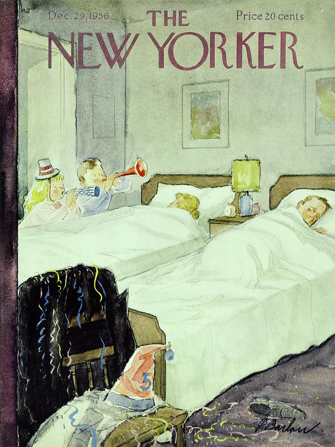 New Yorker December 29 1956painting Painting by Perry Barlow