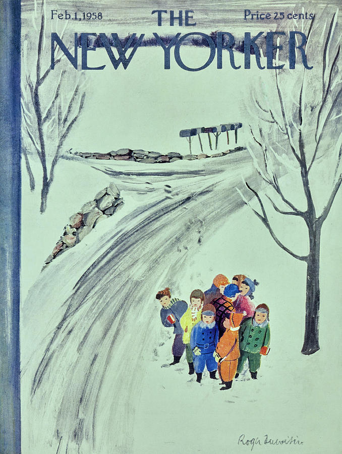 New Yorker February 1 1958 Painting by Roger Duvoisin