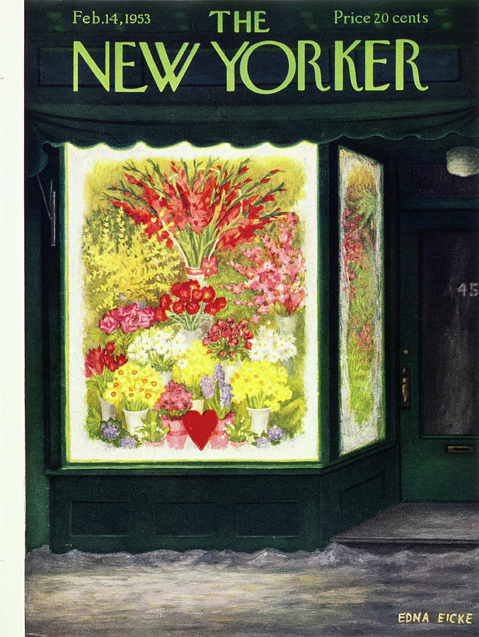 New Yorker February 14 1953 Painting by Edna Eicke