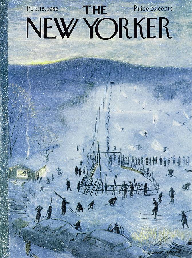 New Yorker February 18 1956 Painting by Garrett Price