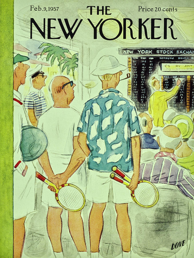 New Yorker February 9 1957 Painting by Leonard Dove