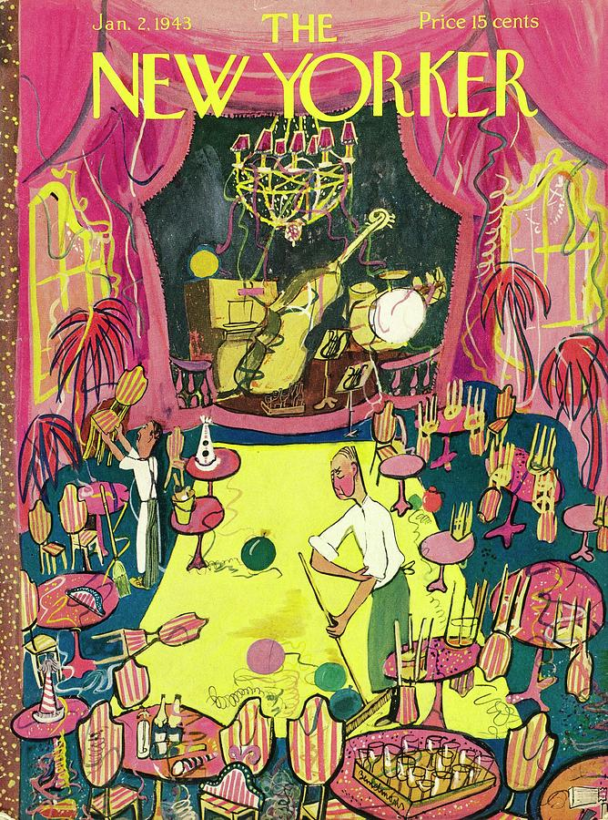 New Yorker January 2 1943 Painting by Ludwig Bemelmans