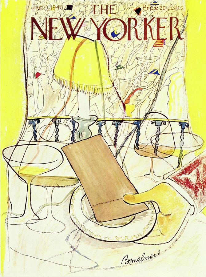 New Yorker January 3, 1948 Painting by Ludwig Bemelmans