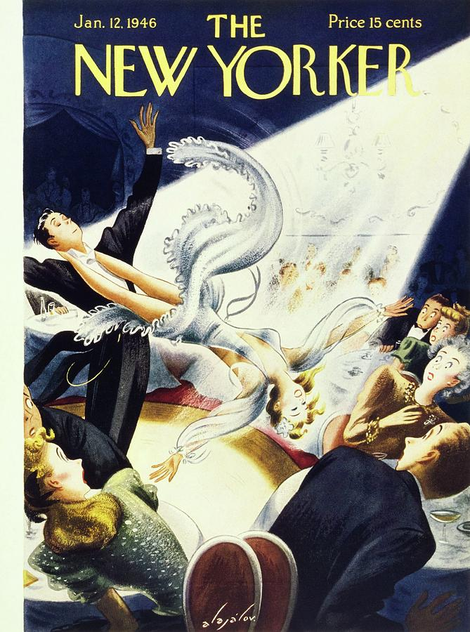 New Yorker January 12 1946 Painting by Constantin Alajalov