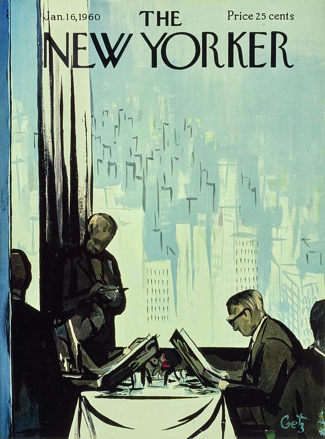 New Yorker January 16 1960 Painting by Arthur Getz